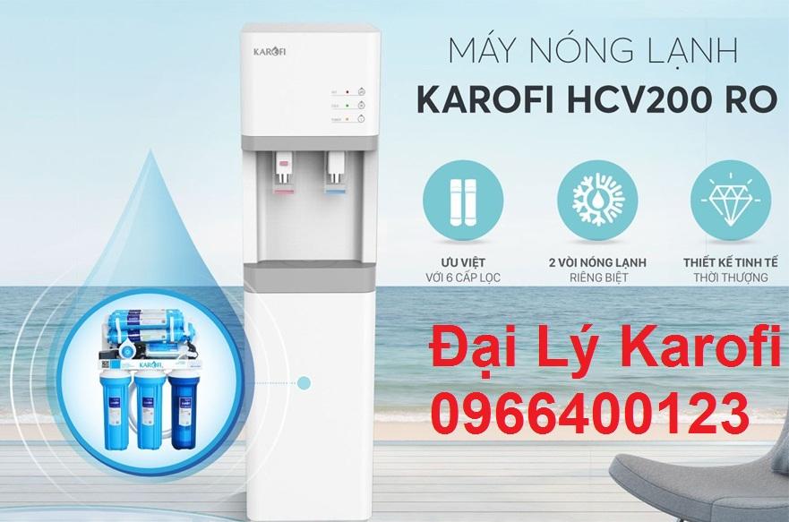 Máy lọc nước nóng lạnh Karofi HCV200RO mới nhất