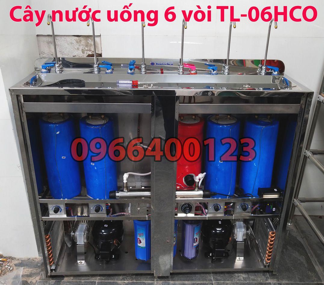 Cây nóng lạnh công nghiệp 6 vòi công suất lớn